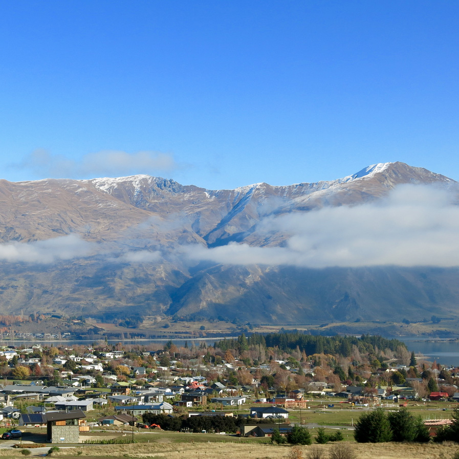 Wanaka view from Sticky Forest